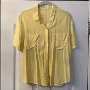 Yellow button down short sleeve